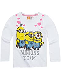 Minions Despicable Me Chicas Camiseta mangas largas 2016 Collection - Blanco