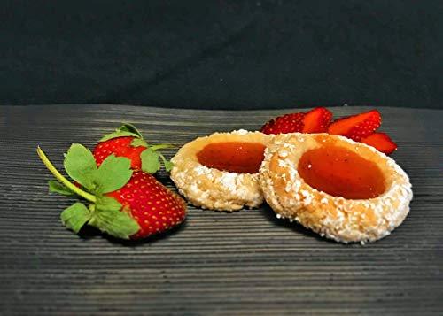 Amaretti Morbidi Erdbeer Gelee - frisch & handwerklich hergestellt - außen knackig und innen weich - Italienisches Mandelgebäck - Marzipangebäck - 500g - 11-12 Stück