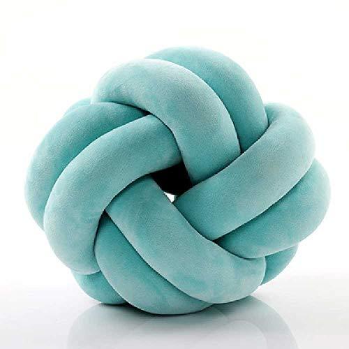 en Stil Kissen Kissen samt Kugel Knoten Kissen Solide Farbe Baby Ruhe Schlaf Puppen gefüllt Schlafzimmer Dekoration schön circulaire/Violet ()