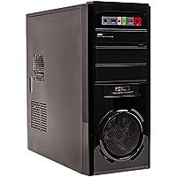 Mach Power cshappy31–3.0Case ATX (fuente de alimentación de 500W, ventilador de 8cm, 1puerta USB 3.0y 1USB 2.0y audio, LED Azul