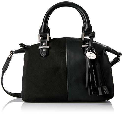 Nine West Face Forward Mini Satchel, Black/Black (West Mini Nine)