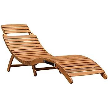 Sonnenliege holz mit auflage  Amazon.de: Sonnenliege / Gartenliege / Liegestuhl / Lounger ...