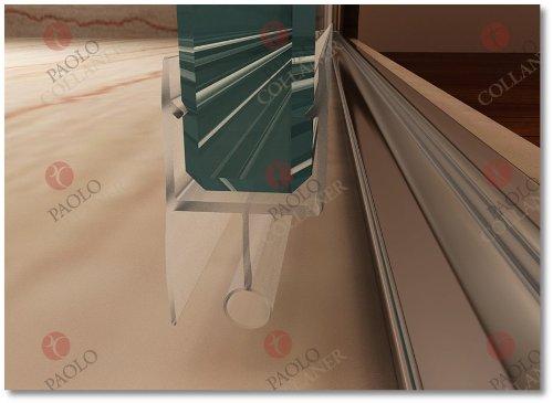 85cm – Verstellbereich von 84-88cm, Duschabtrennung, Duschtür aus 6mm Sicherheitsglas mit Nanobeschichtung - 7