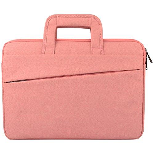 Yuncai Laptop Handtasche 11.6-15.6 Zoll Geschäft Notebook Schutztasche Apple Macbook Schutzhüll Pink 15Inch