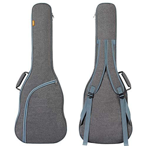 CAHAYA Gitarrentasche Gig Bag E-Guitar Bag E-Gitarren-Gigbag Gitarrenhülle gepolstert mit Rucksackgarnitur,reißfest und wassergeschützt