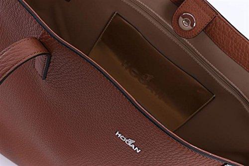 Hogan , Sac à main pour femme marron cuir taille unique cuir