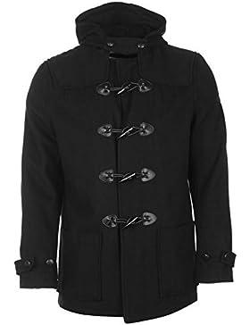 Lambretta trenca chaqueta para hombre color negro chaquetas abrigos Outerwear, negro, large