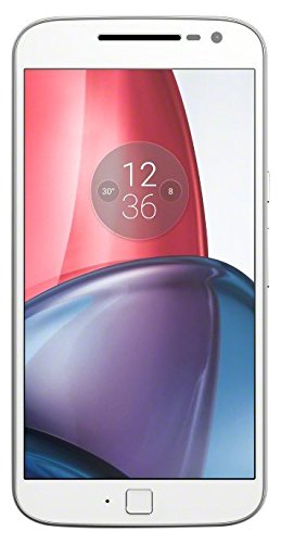 Motorola Moto G4 Plus - Smartphone libre Android 6 (5.5'' Full HD, 4G, 16 MP, 2 GB de RAM, 16 GB, lector de huellas, turbo cargador y Qualcomm Snapdragon 1.5 GHz), blanco - [Exclusivo Amazon]