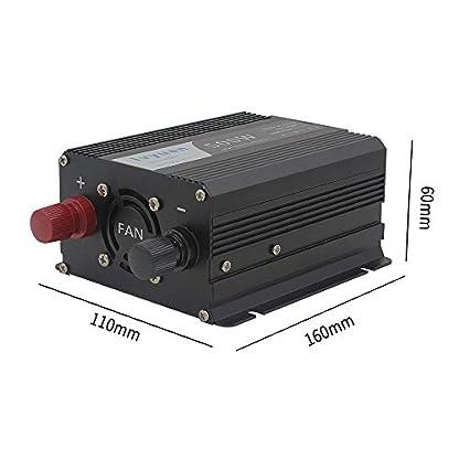 Wechselrichter-500WYinleader-Spannungswandler-DC-12V-auf-AC-230VKFZ-Inverter-mit-EU-Steckdose-und-2-USB-Anschlsse-inklusive-Kfz-Zigarettenanznder-Stecker-Autobatterieclips