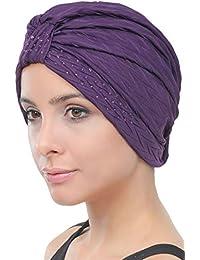 Deresina Headwear W turbante in perline stile per la caduta dei capelli 21bd15a41c42