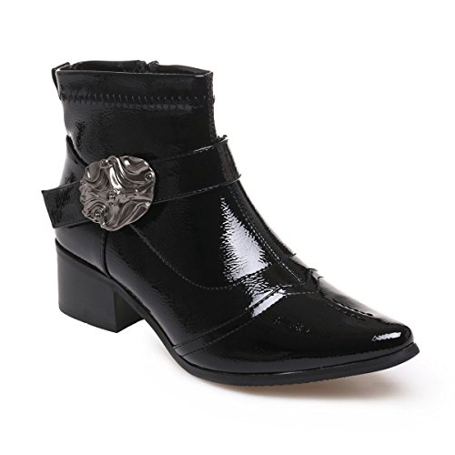 La Modeuse - Bottines en simili cuir vernies bout pointu