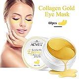Collagen Gold Augenpads, 60 Stück Anti Aging Collagen Augenpads Augenklappe Feuchtigkeitsspendende Wrinkle-Resistant von Pretty Comy