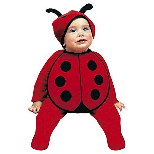 y-Kostüm Marienkäfer | Rot-Schwarz in Größe 80, 0 - 6 Monate | Niedliches Kleinkinder-Outfit Käferchen | Wie geschaffen für Kinder-Fasching & Karneval ()