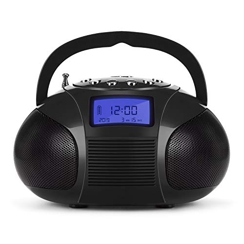 Radio FM con Alarma Despertador August SE20 Mini Altavoz Bluetooth Ina