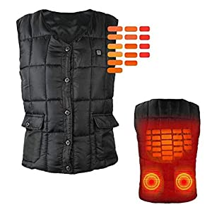 41907LTZibL. SS300  - XIHAA Electric Heated Warm Vest USB Charging Sports Outdoors Skiing Skating Electric Heated Vest,Lightweight 5V 3 Heating Levels