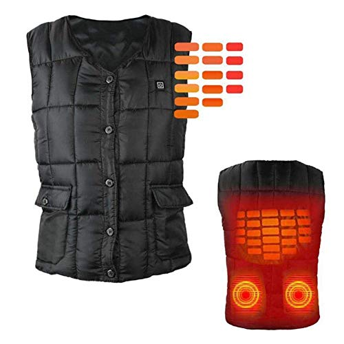 41907LTZibL. SS500  - XIHAA Electric Heated Warm Vest USB Charging Sports Outdoors Skiing Skating Electric Heated Vest,Lightweight 5V 3 Heating Levels