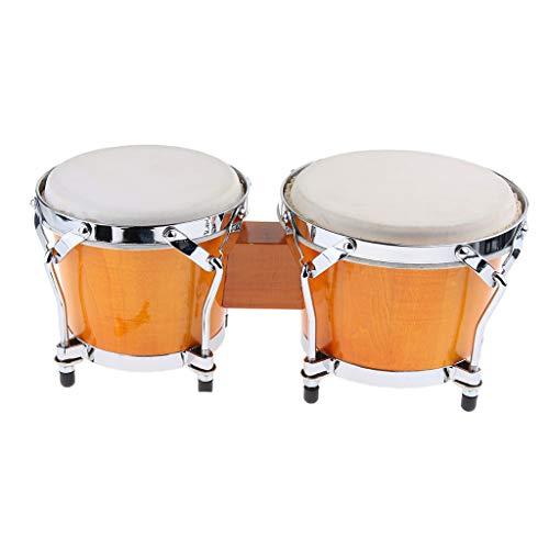 FLAMEER 2 Stück Bongo Afrikanische Handtrommel Schlaginstrument Musikspielzeug für Kinder