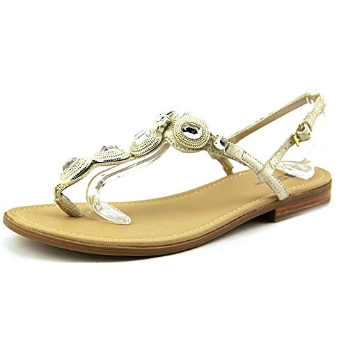 White Mountain Glow Cuir Sandales Or - LtGold/Metallic