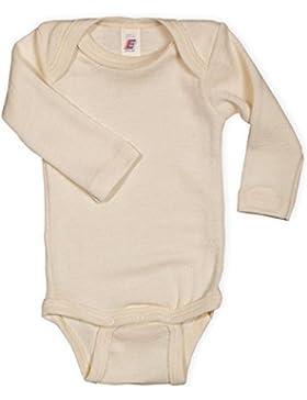 Baby Body langarm, 100% Wolle, Engel Natur, Gr. 50/56 - 110/116