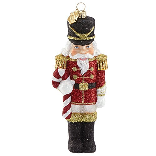Reed & Barton Jingle All The Way Nutcracker with Candy Cane Figural Ornament by Reed & Barton Candy Lenox