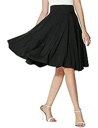 Mujer Corto EláStica Plisada BáSica Falda Plisada Elegante A-Line De  Cintura Alta hasta La Rodilla Vintage Retro… 83972e5b2ef0