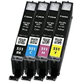 Canon CLI-551 C/M/Y/BK Tintenpatronen (4-er Pack, 4x7ml) cyan/magenta/gelb/schwarz