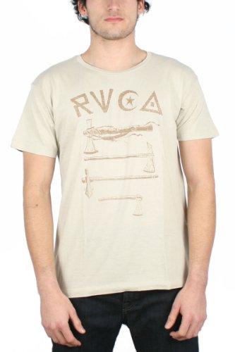 rvca-tomahawks-maglietta-da-uomo-colore-khaki-stone-khaki-heather-small