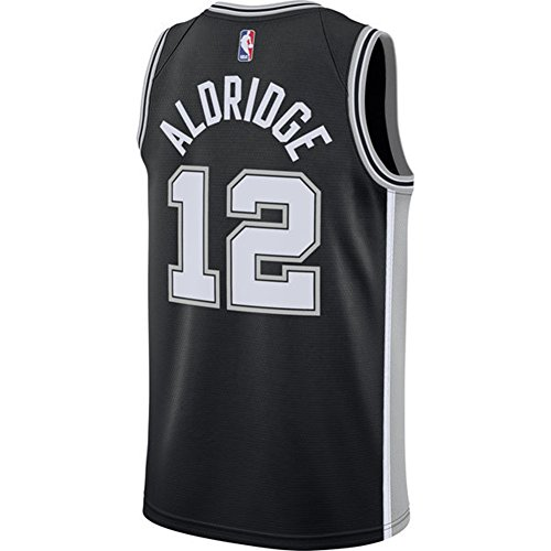 Aldridge Herren Weiß Schwarz Spurs Swingman Jersey Shirt 17/18 M Schwarz