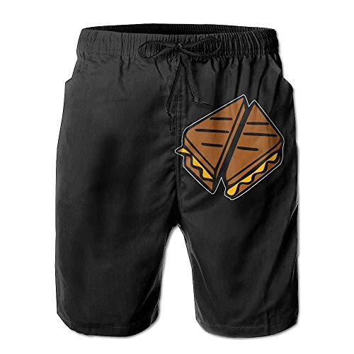 Ytavv Mens Board Shorts Relaxed Grilled Cheese 100% Polyester Gym Shorts/M -