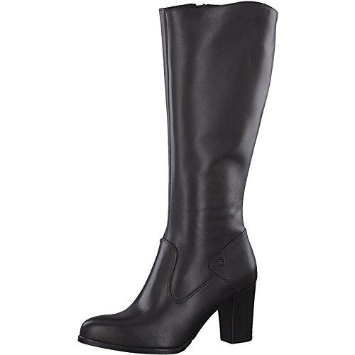Tamaris Damen Stiefel 25570-31,Frauen Boots,Lederstiefel,Reißverschluss,Blockabsatz 8cm