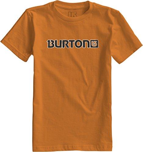 Burton - Maglietta da ragazzo con logo orizzontale e maniche corte, Ragazzo, T-Shirt Logo HRZ Short Sleeve, Petardo, 10-12 Jahre (M)