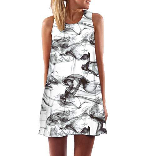 1d48765697 DAYLIN Vintage Large Size Boho Women Summer Sleeveless Beach Printed Short  Mini Dress