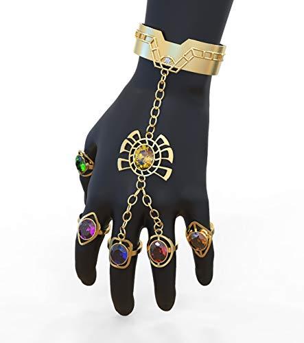 Pandacoos The Avengers Armband Thanos Ring Cosplay Bracelet Damen Schmuck aus Zinklegierung mit Edelstein