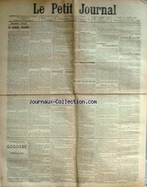 PETIT JOURNAL (LE) [No 13168] du 14/01/1899 - LE SAHARA INCONNU - LA GUILLOTINE - F.PIERRE DAMOISEAU - LES JARDINS D'ESSAI AUX COLONIES - M. GUILLLAIN - EN NOUVELLE-CALEDONIE - M. FEILLET - M. DE BRAZZA - LES COMPAGNONS DU COMMANDANT MARCHAND - L'ADJUDANT DE PRAT - M. MERWART - LE RAPPORT DU CAPITAINE HERQUE - L'ASSASSINAT DE SARNOIS - MME DEMEYENCOURT - A LA COUR DE CASSATION - .M MAZEAU