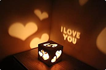 Apna Photo Personalised Candle Shadow Cube Can Customise With Your Tagline And Name Perfect