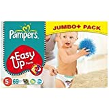 Pampers Easy Up Paquet de 69 couches culottes Taille 5 (12-18 kg)
