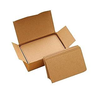 Kentop Blanko Kleine Karte Memory Karten DIY Graffiti Karte Blanko Wort Karten 100 Blatt für Visitenkarten, Grußkarten, Bastel-Geschenkkarten,Memorandum,Wort Karten