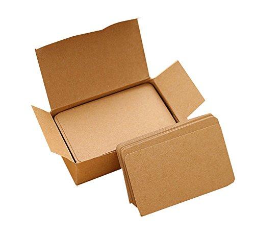 El paquete incluye: 1 caja, 100pcs cada cajaTamaño de la tarjeta: 9 x 5,3 cm; Doble cara disponibleMaterial: tarjeta de artesanía; ColoridoEs como la tarjeta de papel de Kraft, la cartulina en Coloridode Kraft, la tarjeta del mensaje de la tarjeta de...
