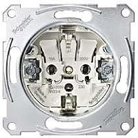 Schneider Electric MGU3.057.30 Base Schuko 16A 230V conexion rapida sin tornillos Aluminio