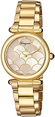 Salvatore Ferragamo Women'S Rose Gold Dial Stainless Steel Band Watch - Fch070