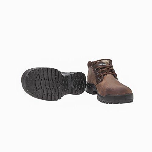Base Protection - Scarpe alte antinfortunistiche in pelle ingrassata idrorepellente di alta qualità. Con puntale acciaio, lamina antiforo. Categoria S3 SRC. - Taglia: 39