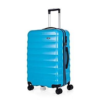 JASLEN – 69260 Maleta Trolley 60 cm Mediana ABS/PC. Rígida, Resistente y Ligera. Mango telescópico. Asas retráctiles. 4 Ruedas. Talla Media. Candado TSA, Color Turquesa