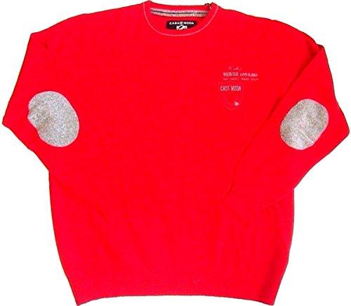 Casa Moda Pulli Pullover Hemdenpullover Lammwolle rot Rundhals L-XXXL (XL 54) (Pullover Rot Lammwolle)
