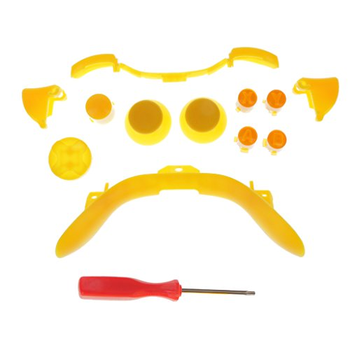 Segolike Custom ABXY Dpad Full Buttons Set Controller Mod for for Xbox 360 Yellow