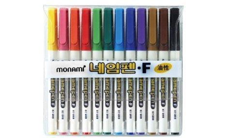 monami-oil-based-sharpie-12-colors-in-1-pack