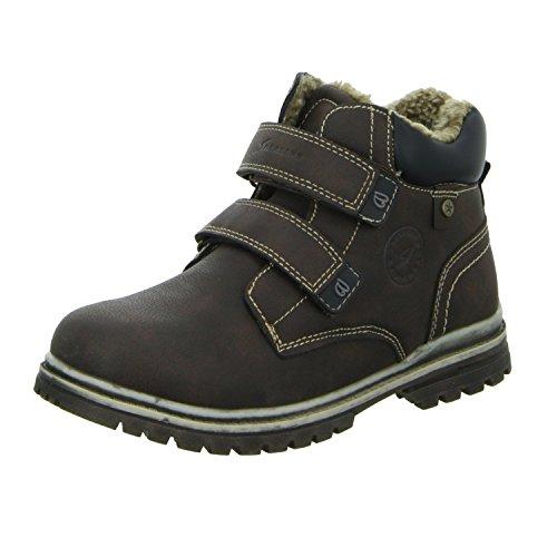 Sneakers 15KC0110 Jungen Schlupf/Klettstiefelette Warmfutter Braun (Braun)