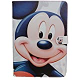 "Ipad AIR 1 / 2 PRO 9.7"" Case Cover Stand Cute White Disney Mickey Mouse Minnie Cartoon Design UK SELLER"