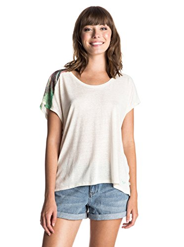Roxy Sunset Day Travel Tattoo T-shirt Blanc - Vanilla Ice