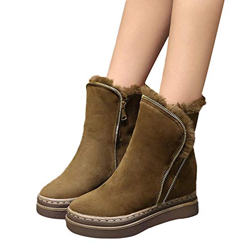 Preisvergleich Produktbild TianWlio Stiefel Frauen Winter Warm Schuhe Stiefeletten Boots Halten Schlüpfen Schneestiefel Weihnachten Winter Schuh erhöhen in Keep Warm Baumwolle Boots Martin Kurze Stiefel