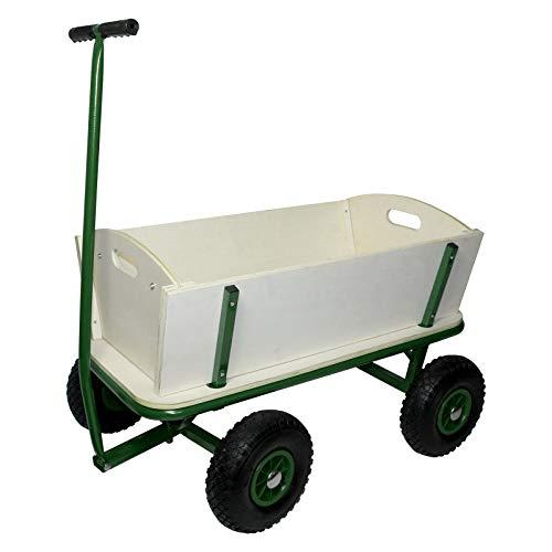Bollerwagen Transportwagen Handwagen Luftreifen - Farbe: grün